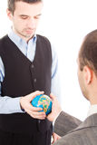 Business men with globe Royalty Free Stock Image