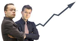 Business men with graph Royalty Free Stock Images
