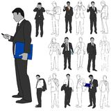 Business Men Group Set 02 Royalty Free Stock Photography