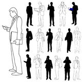 Business Men Group Set 03 stock illustration