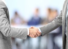Business men hand shake Stock Images