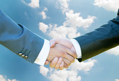Business men hand shake. Background Royalty Free Stock Photo