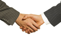 Business men hand-shake Stock Photos