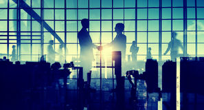 Business Men Handshake Abstract Collaboration Concept Royalty Free Stock Images