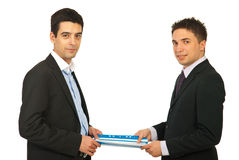 Business men holding contract Stock Photo