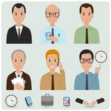 Business men icons Stock Photography