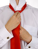 Business Men Is Fixing His Tie Royalty Free Stock Photo
