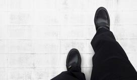 Business men keep walking forward. White background Royalty Free Stock Photo