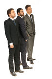 Business men looking in perspective Royalty Free Stock Image