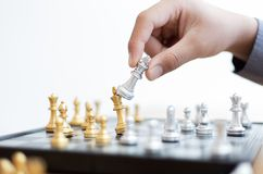 Free Business Men Make Plans To Play Chess With Prudence And Success Stock Image - 166292791