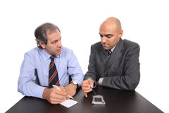 Business men on a meeting Stock Photography