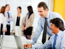 Business men at the office Royalty Free Stock Photo