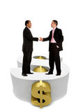 Business men over a dollar symbol Stock Photography