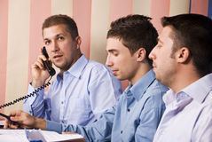 Business men partners in office working Royalty Free Stock Photo