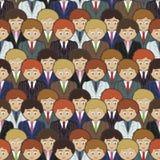 Business men pattern Stock Photography