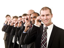 Business men on the phone Stock Photos