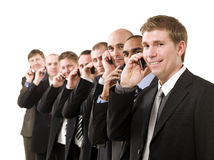 Business men on the phone Royalty Free Stock Photography