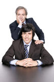 Business men portrait, father and son Royalty Free Stock Images