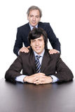 Business men portrait, father and son Royalty Free Stock Photography
