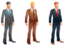 Business men posing set Royalty Free Stock Images