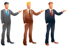 Business men presenting set Royalty Free Stock Image