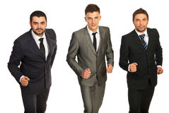 Business men ready for competition Royalty Free Stock Photos