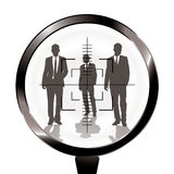 Business men rifle target Royalty Free Stock Images