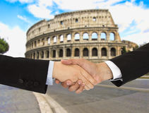 Business men in Rome Royalty Free Stock Photos