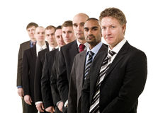 Business men in a row Royalty Free Stock Image