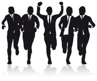 Business Men Running Stock Image