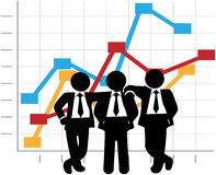 Business Men Sales Team Profit Growth Graph Chart stock illustration