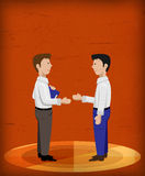 Business men shaking hands good background Stock Photo
