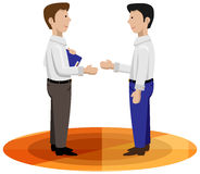 Business men shaking hands royalty free stock images