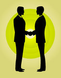 Business men shaking hands. Vector  black  partner vector illustration