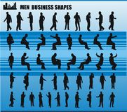 Business men shapes vector Stock Image