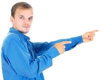 Business men show his presentation Stock Images