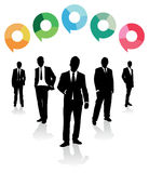 Business men speech bubbles Royalty Free Stock Image