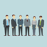 Business men team Concept of Group People. Vector flat. Royalty Free Stock Image