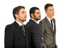 Business men team looking away Royalty Free Stock Photo