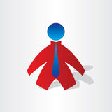 Business men with tie icon. Manager symbol Royalty Free Stock Photo