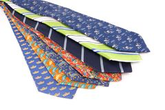 Business men tie work clothes. Business men work clothes. Color fashion neck ties Royalty Free Stock Image