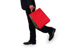 Business men to sponsor a shopping bag Royalty Free Stock Photography