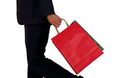 Business men to sponsor a shopping bag Royalty Free Stock Photo