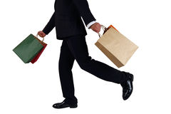Business men to sponsor a shopping bag Royalty Free Stock Images
