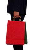 Business men to sponsor a shopping bag Stock Images