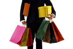 Business men to sponsor a shopping bag Royalty Free Stock Photos