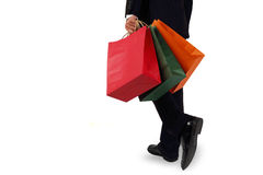 Business men to sponsor a shopping bag Stock Photography