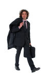 Business men walking ! !. The photo shows a happy business men walking Royalty Free Stock Images