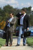 Business men walking Stock Photo
