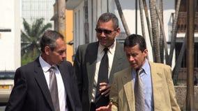 Business Men Walking. Group of Older Hispanic Business Men Stock Image